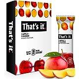 That's it. Apple + Mango 100% Natural Real Fruit Bar, Best High Fiber Vegan, Gluten Free Healthy Snack, Paleo for Children &