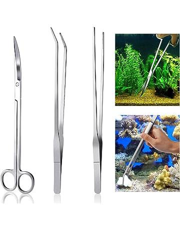 ueetek Acuario Kit Herramienta Accesorios Acero Inoxidable Acuario Depósito Agua Planta pinzas tijeras herramientas Set peces