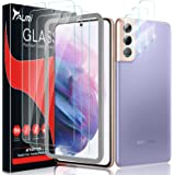[3+3 Pack] Tauri Compatible with Samsung Galaxy S21 Plus 5G 6.7 - inch, 3 Pack Tempered Glass Screen Protector + 3 Pack Camer