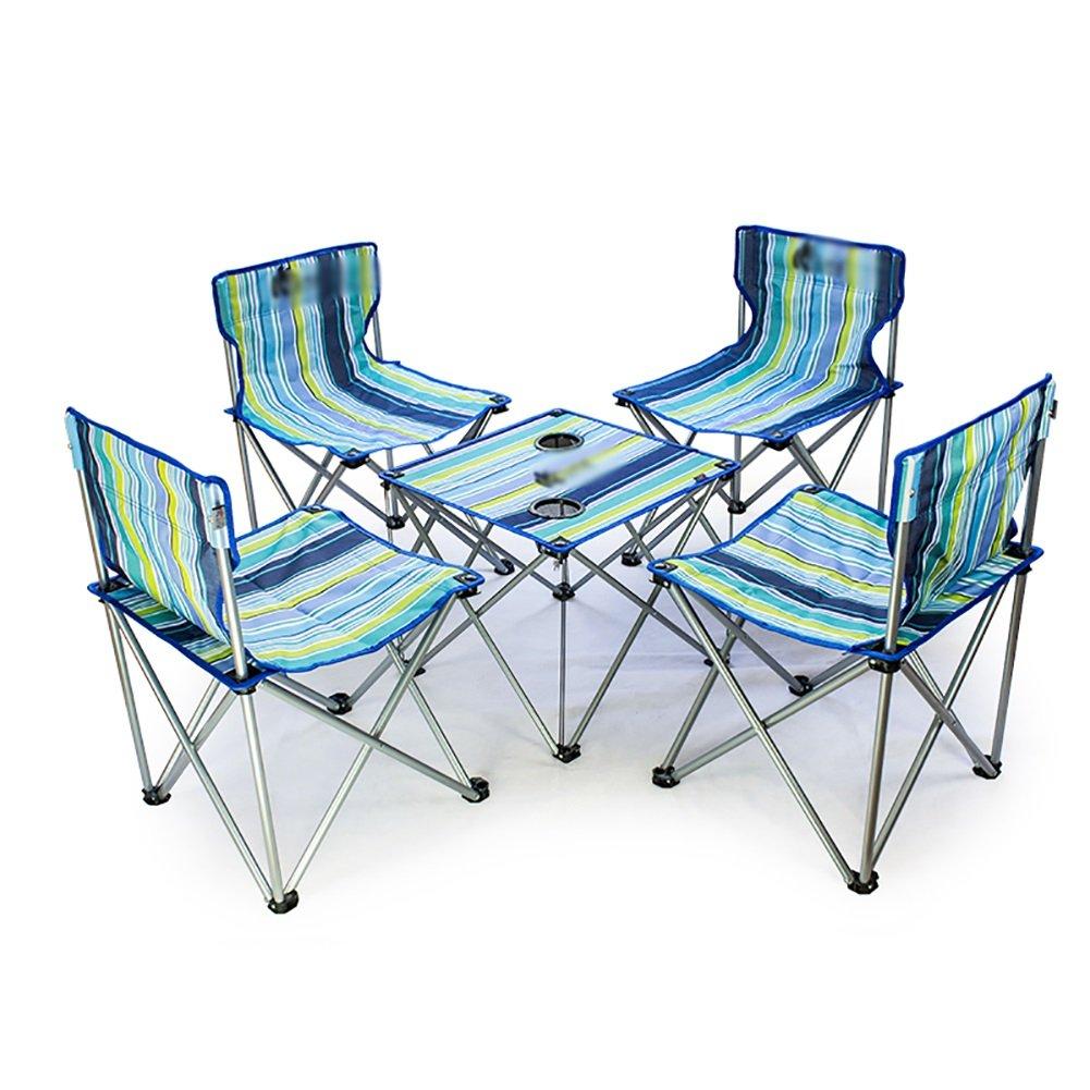 Liegestuhl Selbstfahrender Faltender Entspannender Strand-Stuhl-Freizeit-Tabellen-Stuhl-Kombination Im Freien Tragbare Tisch-und Stuhl-Satz
