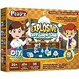 Playz Explosive Kitchen Lab 26+ Physics, Chemistry & Biology Science Experiments Set - Make Salt & Pepper Electricity, Sour L