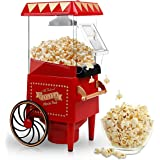 Popcorn Maker, Hot Air Popcorn Machine 1200W Vintage Tabletop Electric Popcorn Popper, Healthy and Quick Snack Suitable for H