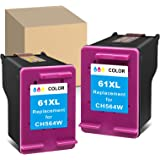 ATOPolyjet Remanufactured 61XL 61 Ink Cartridge Replacement for HP 61 61XL 61 XL Used in HP Envy 4500 5530 4501 4502 OfficeJe