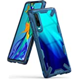 Ringke Fusion-X Compatible with Huawei P30 Case, Shockproof Rugged Bumper Cover - Space Blue