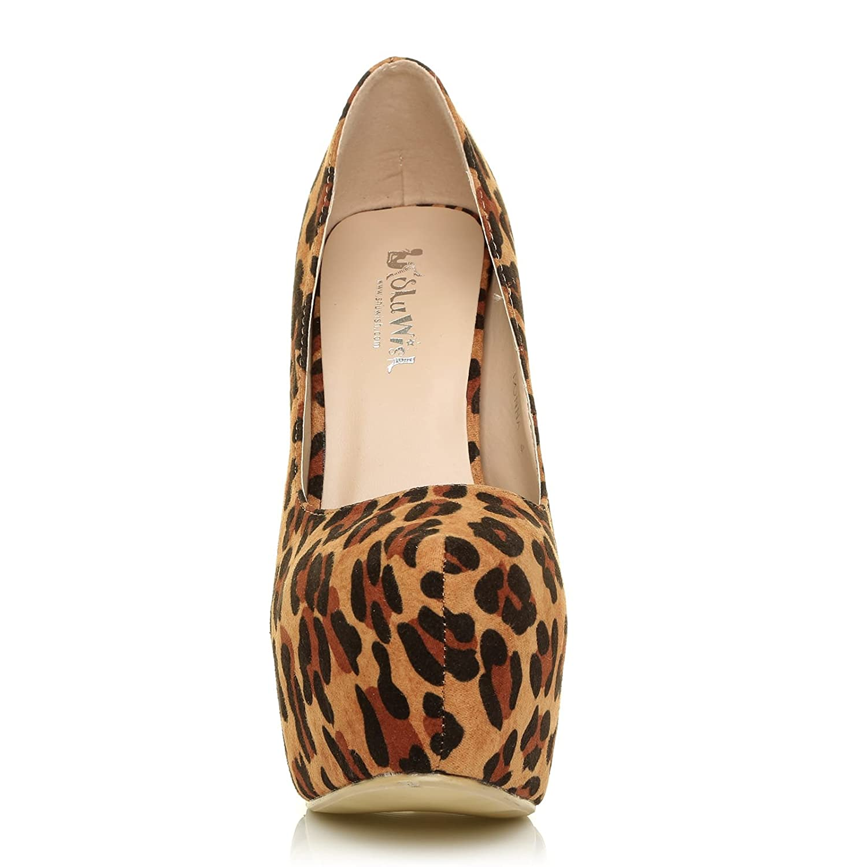 ShuWish UK Donna, Scarpe col tacco tacco tacco donna Leopardato  - 3e169f