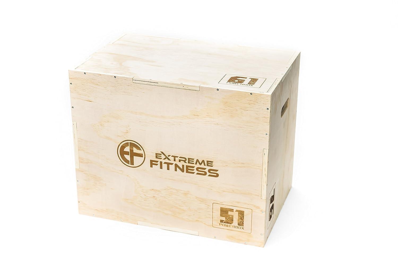 Extreme Fitness 3 in 1 Holz PLYOMETRIC Plyo Box für Jump Training und veROTelungstechnik 30 x 20 x 24