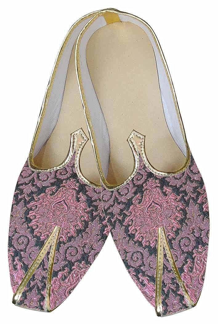 INMONARCH Diseñador de Rosa Hombres Zapatos de Boda MJ0095 40.5 EU