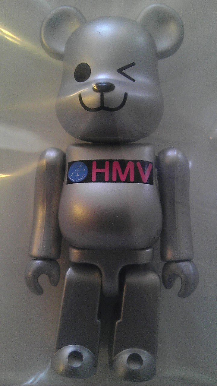 BE @ RBRICK Bearbrick HMV 1st Silver 100% (Japan import   The package and the manual are written in Japanese)