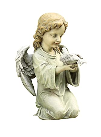 angel garden statues canada ornaments kneeling dove statue inch tall praying uk