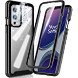 HATOSHI OnePlus 9 6.5-inch Case with Built in Screen Protector [NOT for OnePlus 9 Pro 6.7-inch], with 2 Pack Camera Lens Prot