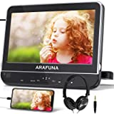 """10.1"""" Car DVD Player with Headrest Mount, ARAFUNA Headrest DVD Player with Headphone, HDMI Input, 1080P Video Support, Clamsh"""