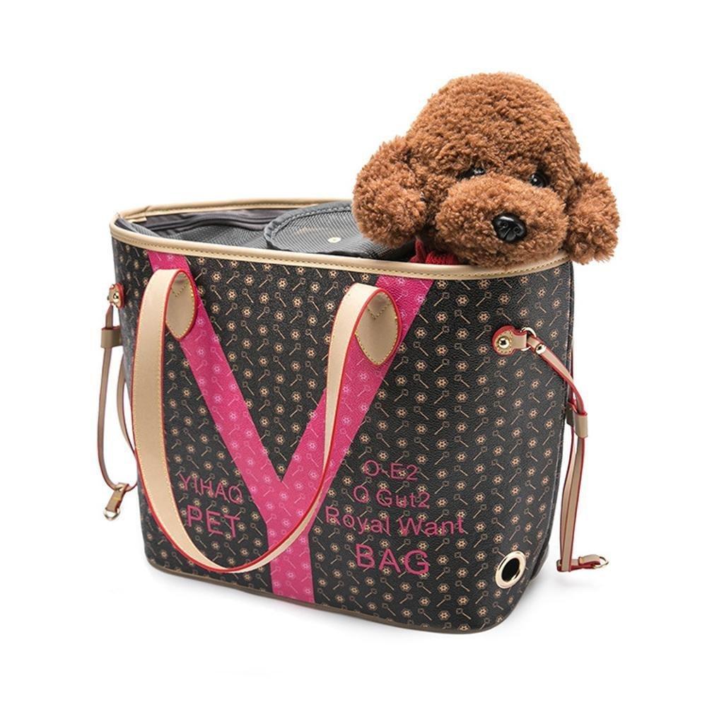 Kaxima Zaino porta animali Cane PU singola spalla portatile portatile portatile borsa gatto gabbia, 48cm  18cm  30 cm 09ab05
