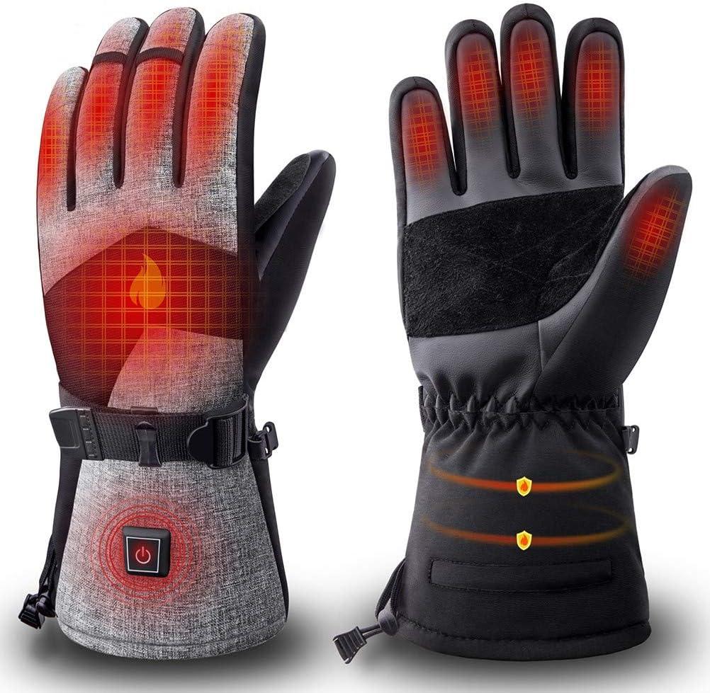 XXL STTTBD Elektrische Beheizbare Wasserdicht Handschuhe Winterhandschuhe mit Wiederaufladbare Beheizte Motorrad Handwärmer Ideal für Motorrad,Reiten,Jagen,Christmas
