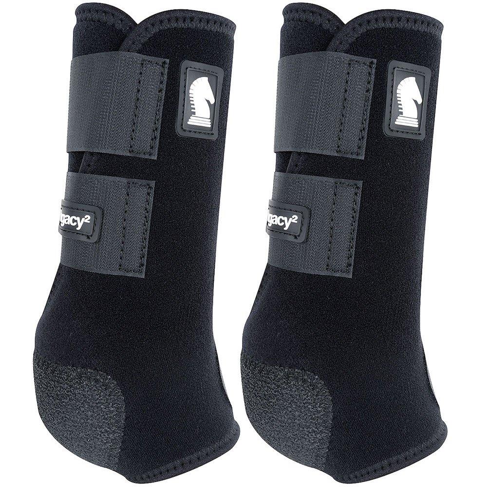 クラシックロープ会社legacy2前面保護用ブーツ2パックSブラック