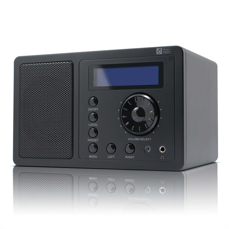 ocean digital internet radio tuner wr220 wifi wlan receiver lcd display remote. Black Bedroom Furniture Sets. Home Design Ideas