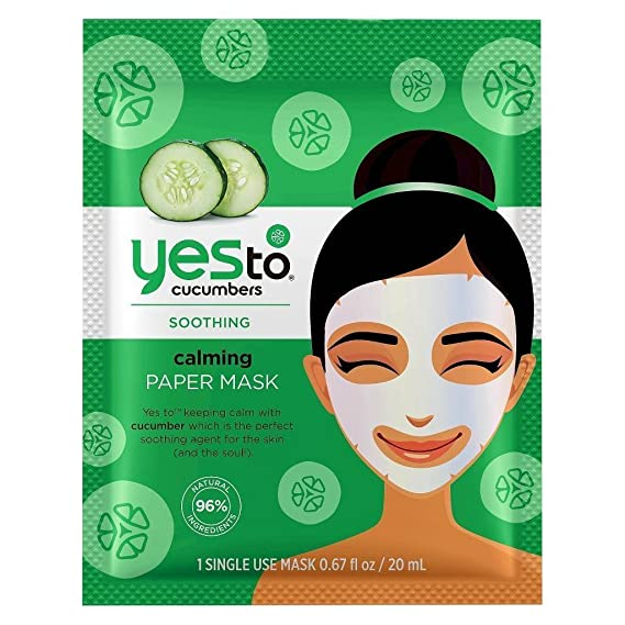 Yes To Cucumbers Calming Paper Mask -0.67 Oz, 3 Pack Osmosis Vitamin A Serums Correct (level 3) 1 oz
