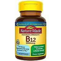 Nature Made Maximum Strength Vitamin B12 5000 mcg Softgels, 60 Count (Packaging...