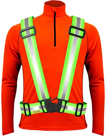 NEON YELLOW  REFLECTIVE SAFETY SIZE B/'TWIN ADULT SAFETY VEST S-M
