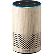 Echo (2nd Generation) - Smart speaker with Alexa - Limited Edition Oak Finish