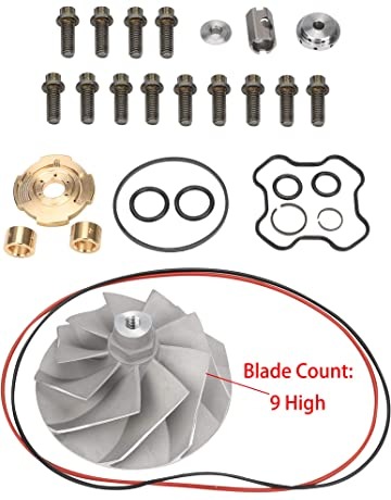 BLACKHORSE-RACING Turbo Compressor Wheel and Upgraded Rebuild Kit TP38 GTP38 for Ford Powerstroke (