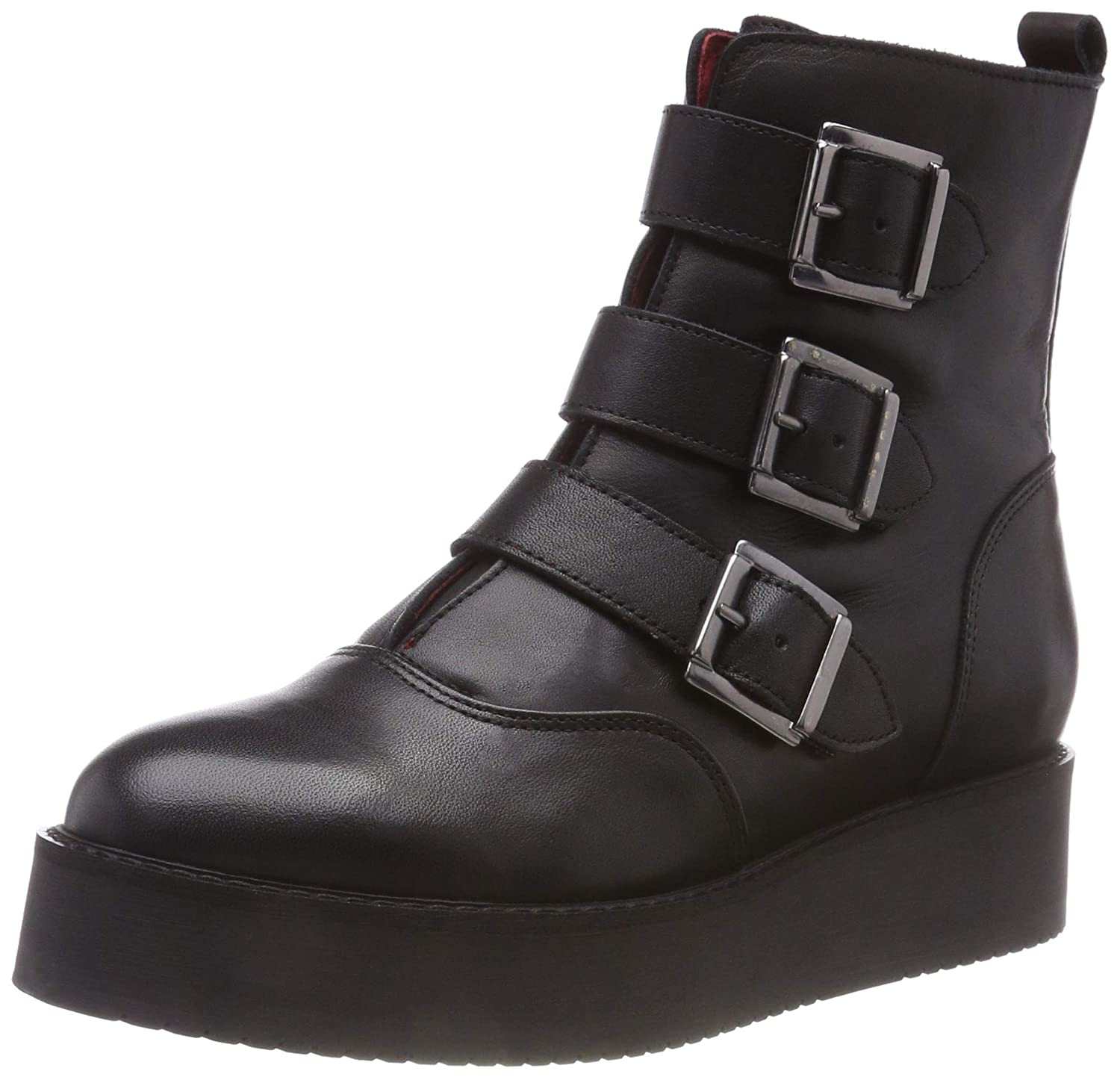 Buffalo Damen Wax Nappa Leather Stiefeletten
