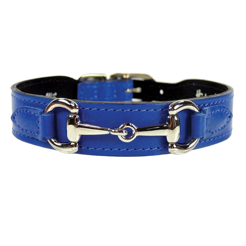Hartman & pink 1182 Belmont Dog Collar, 18 to 20-Inch, Cobalt bluee