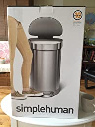 Amazon Com Simplehuman Semi Round Step Trash Can With