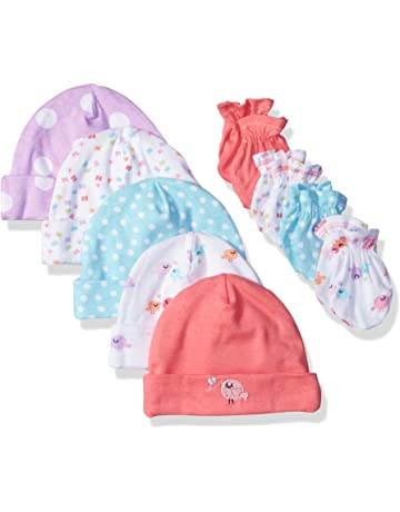 7c3faf648eb Gerber Baby Girls  9-Piece Cap and Mitten Bundle