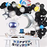 Space Party Supplies - 89Pcs Outer Space Party Decorations Solar System Happy Birthday Banner Rocket Balloons Astronaut Ballo