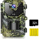 1080P 16MP Trail Camera, Hunting Camera with 120°Wide-Angle Motion Latest Sensor View 0.2s Trigger Time Trail Game Camera wit