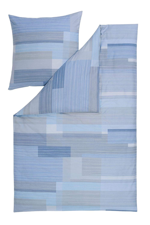 Estella Bettwäsche Baldo   Größe 135x200 + 80x80cm Farbe hellblau