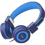 Elecder i37 Kids Headphones Children Girls Boys Teens Adults Foldable Adjustable On Ear Headsets 3.5mm Jack Compatible iPad C