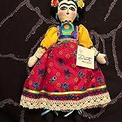 Amazon.com: Frida Kahlo – Mexicano hecho a mano – muñeca ...