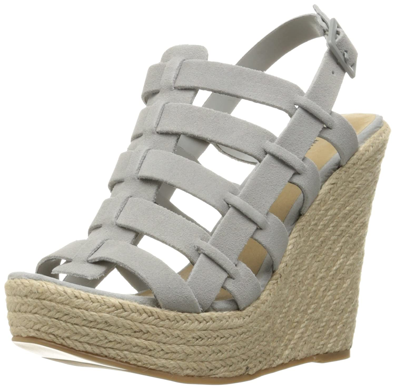 Chinese Laundry Women's Dance Party Espadrille Wedge Sandal B01JK442VE 9.5 B(M) US|Grey/Blue Suede