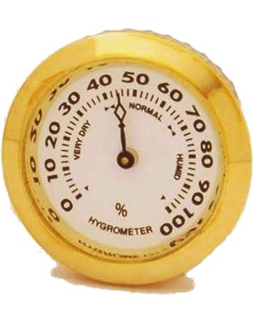 GERMANUS - Higrómetro de Repuesto para humidificador (35 mm), Color Dorado