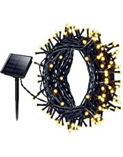 Mpow 200 LED 8 Modes Solar Powered String Lights, 72ft Copper Wire Starry Fairy Lights IP65 Waterproof Festival Garden Lights for Christmas, Patio, Garden, Wedding, Party (Warm Light)