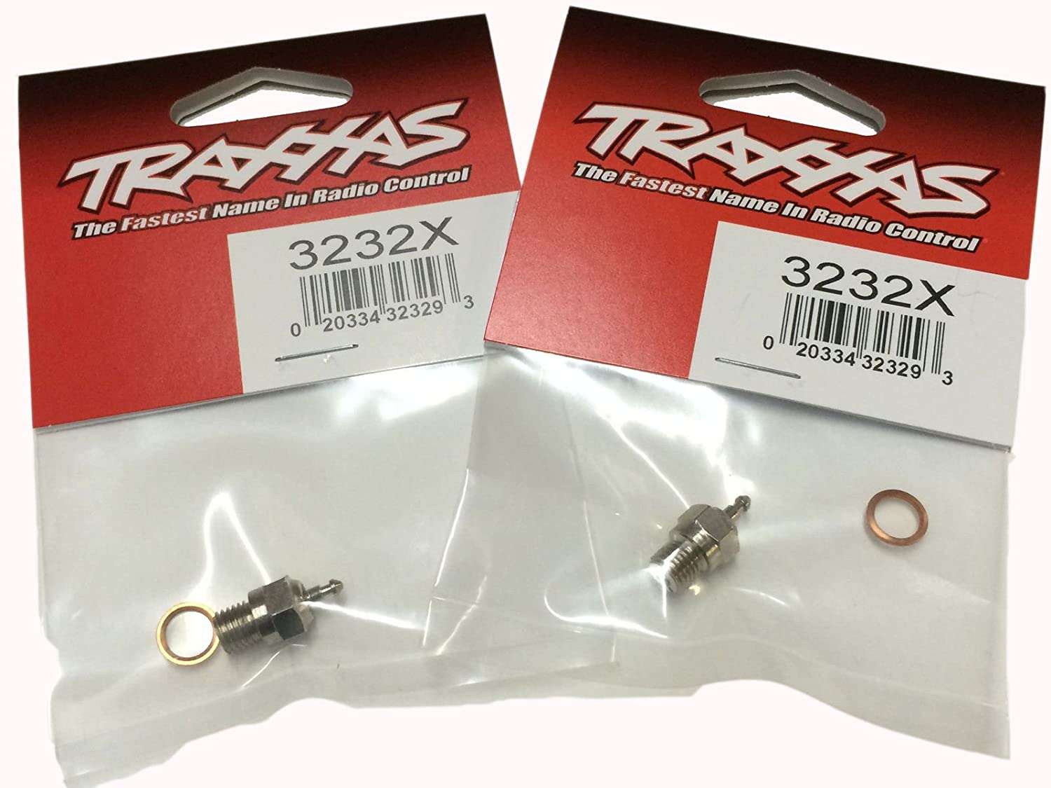 Traxxas Revo 3.3 TWO SUPER DUTY GLOW PLUGS, LONG, MEDIUM HEAT RANGE & SPACERS