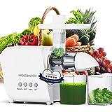 MegaWise Pro Slow Masticating Juicer, 95% Juice Yield & 9 Segment Spiral 2 Speed Modes Juicer Machines for Vegetables and Fru