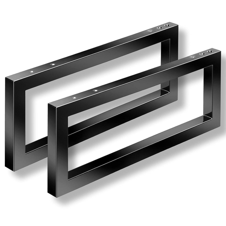 2 x Washbasin Shelves WK480 with Towel Rail 480 x 200 x 30 mm black Washbasin Support Wall Bracket Washbasin Brackets from SO-TECH®