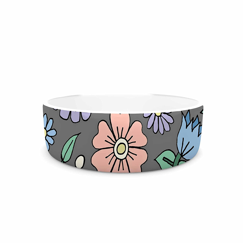 KESS InHouse Sarah Oelerich Early Spring  Pastel Floral Pet Bowl, 7
