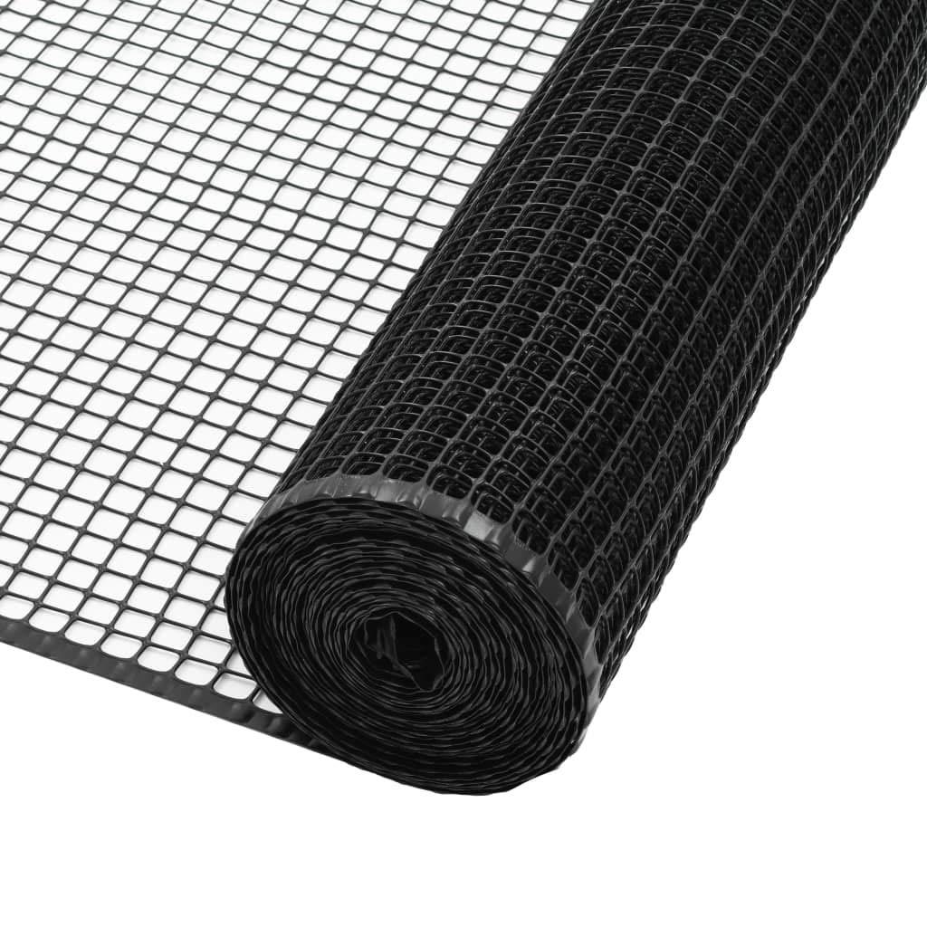 Black 50x0.6 mFestnight Garden Fence Mesh HDPE 10x1.2 m Green