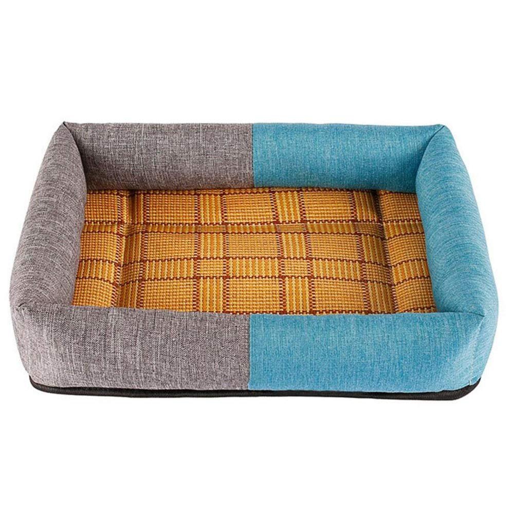 B XlGKKXUE Cat nest, Summer cool pad pet nest, Indoor dog house, Pet sleeping bed (color   B, Size   Xl)