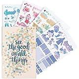 Erin Condren Designer Desk Accessories - Monthly Sticker Book, Edition 6, 12 Unique, Beautiful Sticker Sheets in a Designer S