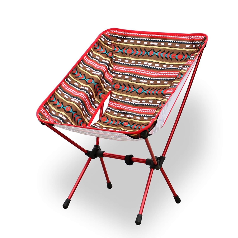 Campingstuhl Ultra Leichtgewicht Falten Aluminiumlegierung draussen Lounge-Sessel (größe   S)