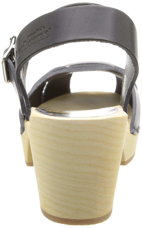 swedish hasbeens Women's Peep Toe High Clog B002T45DYI 10 B(M) US Black