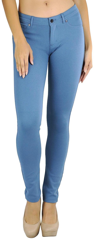 bluee Shadow ToBeInStyle Women's 5Pocket Skinny Fit Ponte Pants