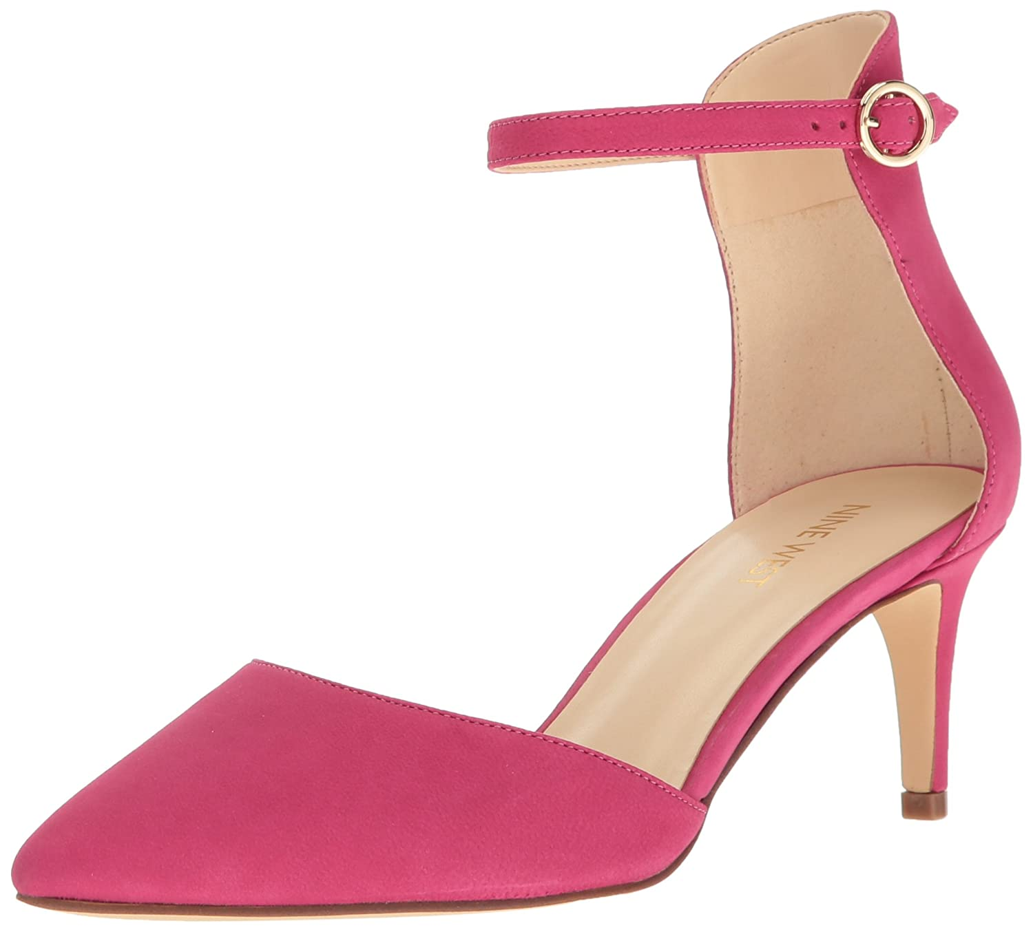 Nine West B01MXEFA50 Women's Sharmila Leather Dress Pump B01MXEFA50 West 5.5 B(M) US|Pink df9c9d
