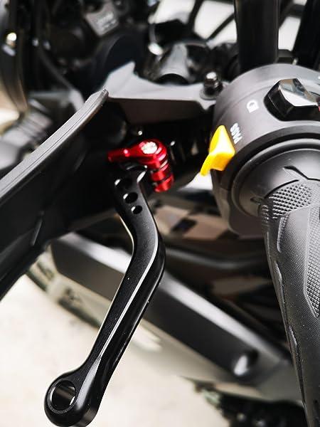 ビレットブレーキクラッチレバー黒-6段階調整-SUZUKI-新型GSX250R-GSR250