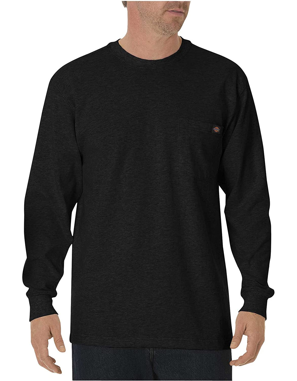 Noir  L Dickies Pocket Tee L S T-Shirt Manches Longues Homme