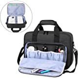 Luxja Projector Case, Projector Bag with Accessories Storage Pockets (Compatible with Most Major Projectors), Medium(13.75 x